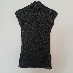 Zara turtleneck dotted top size s
